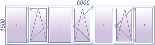Схема остекления лоджии